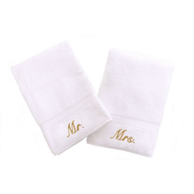 Linum Home Mr. And Mrs. Hand Towels (Set Of 2)