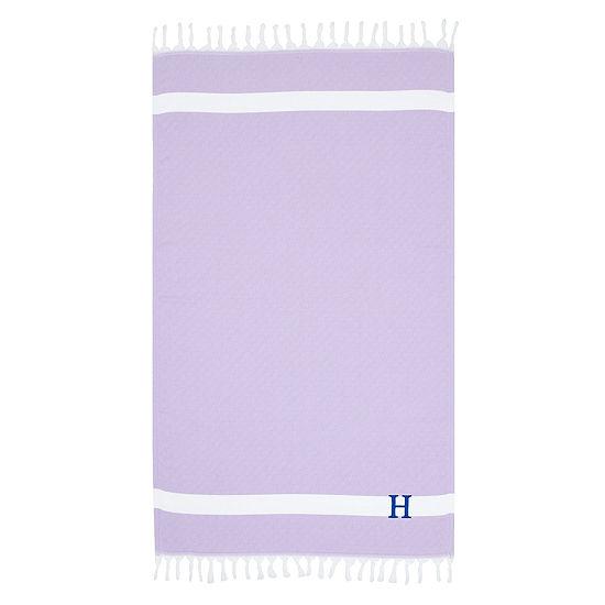 Linum Home Personalized Lilac Diamond Pestemal