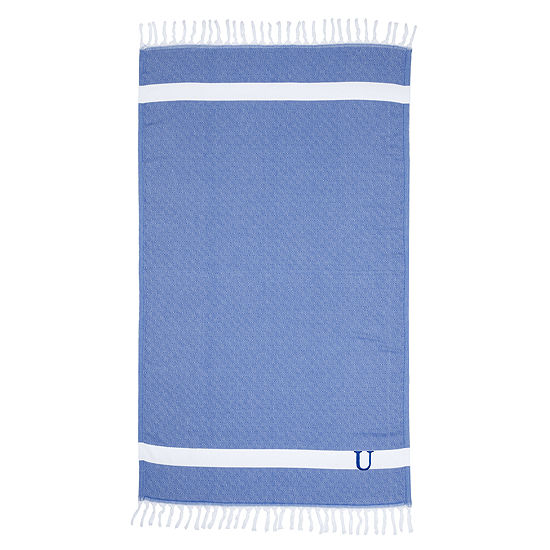 Linum Home Personalized Royal Blue Diamond Pestemal