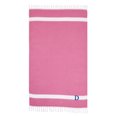 Linum Home Personalized Pink Diamond Pestemal