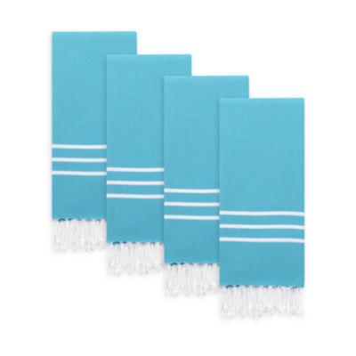 Linum Home Textiles Alara  Turkish Pestemal Hand/Guest Towels (Set Of 4)