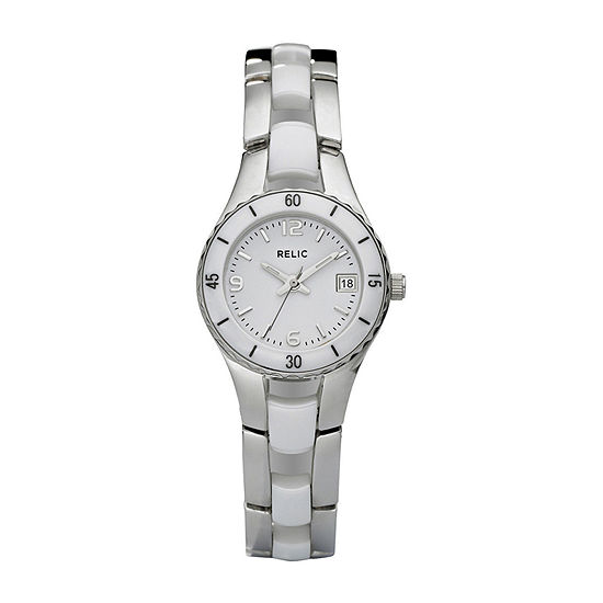 Relic By Fossil Womens Silver Tone Stainless Steel Bracelet Watch - Zr11894