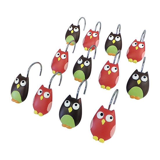 Owls Shower Curtain Hooks