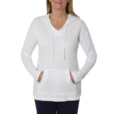 Cathy Daniels Weekend Brunch Womens Long Sleeve Knit Hoodie