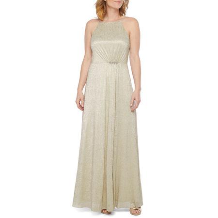 70s Prom, Formal, Evening, Party Dresses Scarlett Sleeveless Embellished Evening Gown 16  Brown $35.99 AT vintagedancer.com
