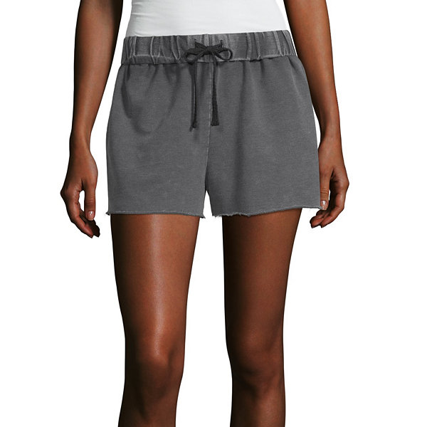 Flirtitude Womens Mid Rise Pull-On Short-Juniors