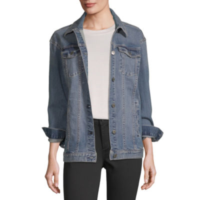 a.n.a Womens Oversized Trucker Denim Jacket