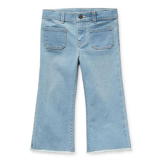 Okie Dokie Little Girls Wide Leg Regular Fit Jean