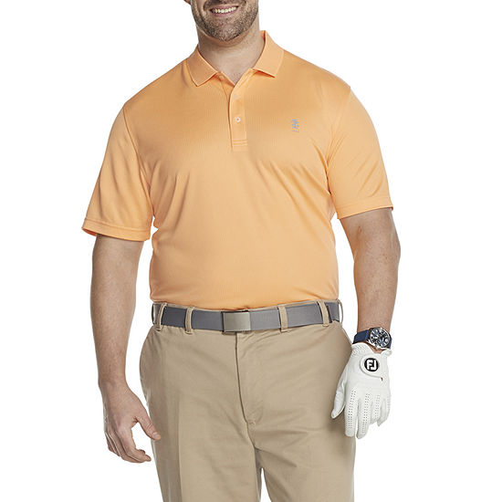 IZOD Big and Tall Golf Grid Polo Mens Cooling Short Sleeve Polo Shirt