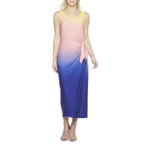 Robbie Bee Sleeveless Ombre Maxi Dress