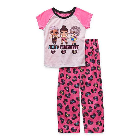 LOL Surprise! Little & Big Girls 2-pc. LOL Pant Pajama Set