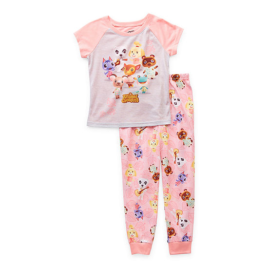 Little & Big Girls 2-pc. Animal Crossing Pant Pajama Set