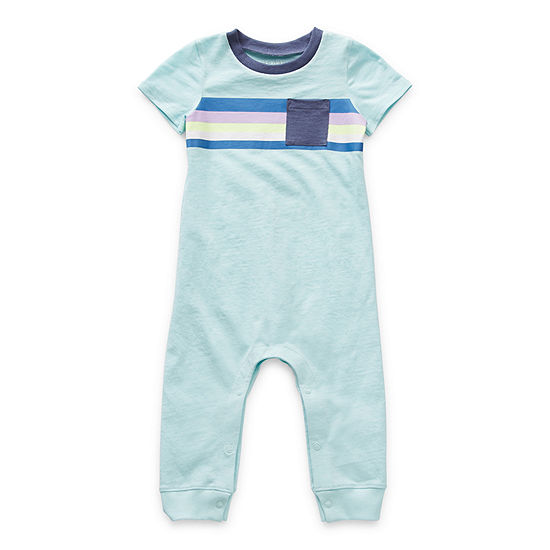 Okie Dokie Baby Boys Short Sleeve Jumpsuit