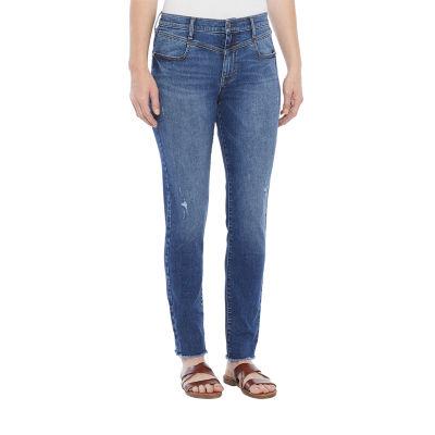 a.n.a Womens Yoke Waist High Rise Skinny Jean
