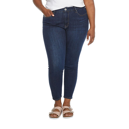 a.n.a - Plus Womens Mid Rise Skinny Ankle Jean