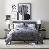 Deals on Thread Trade Co Heathered Lightweight Reversible Comforter Set