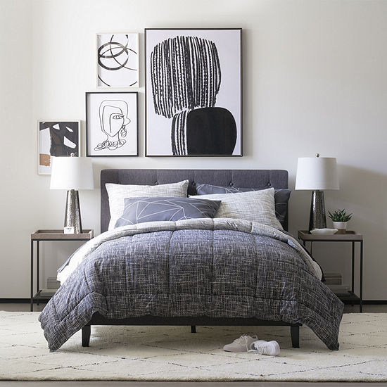 Thread Trade Co Heathered Lightweight Reversible Comforter Set