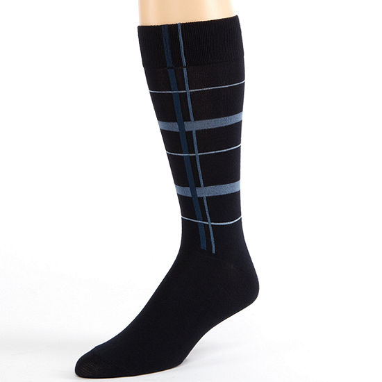 Accents Modern Navy Grid Socks