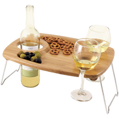 Picnic Time® Mesavino Wine Serving Tray With Legs