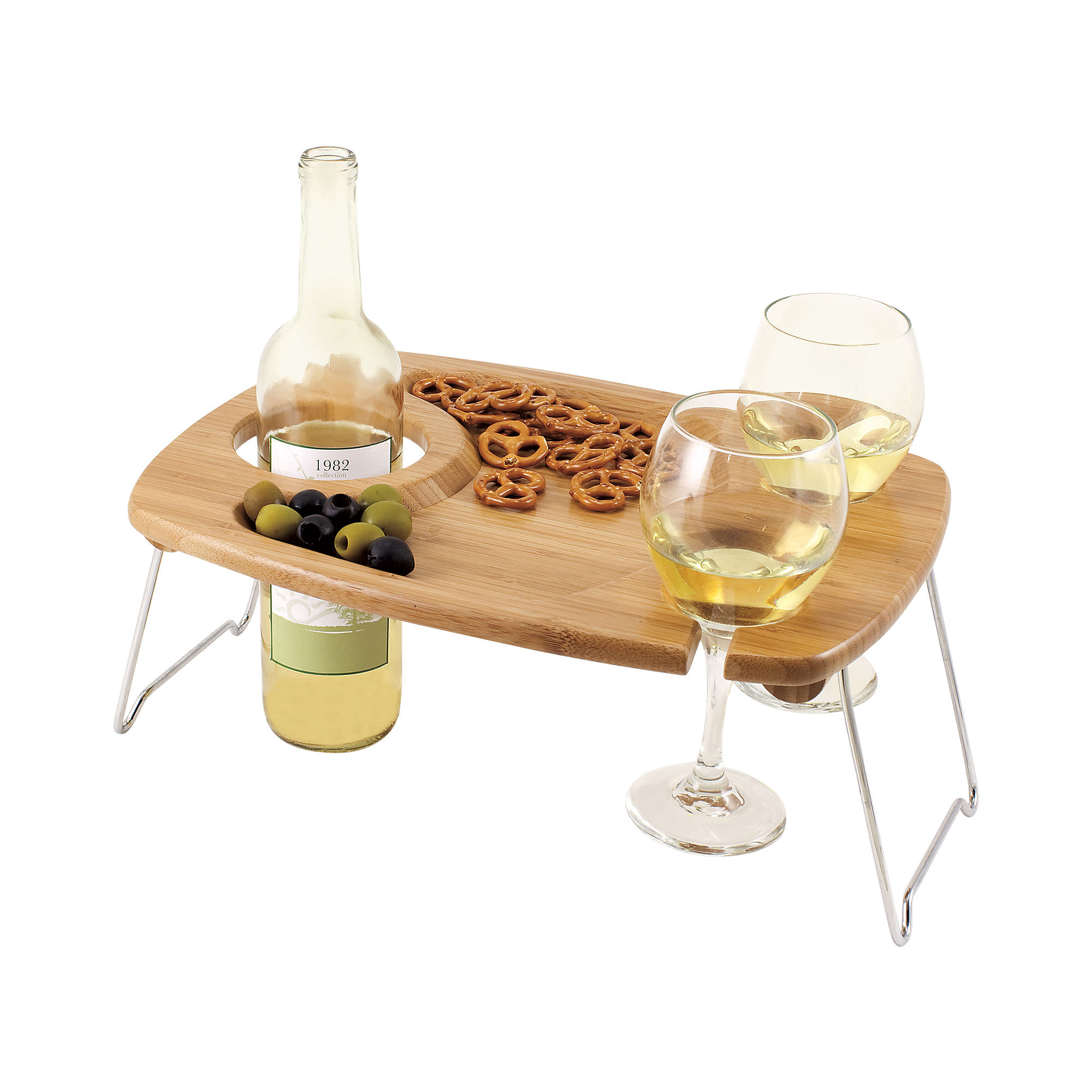 Picnic Time Mesavino Wine Serving Tray With Legs