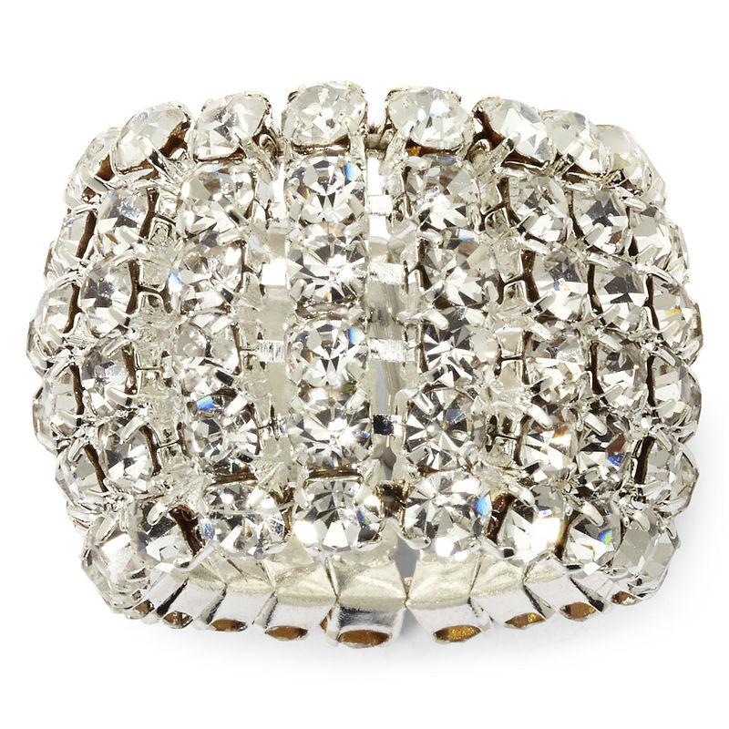 Vieste Crystal Stretch Ring