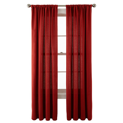 JCPenney Home™ Holden Rod-Pocket Cotton Curtain Panel