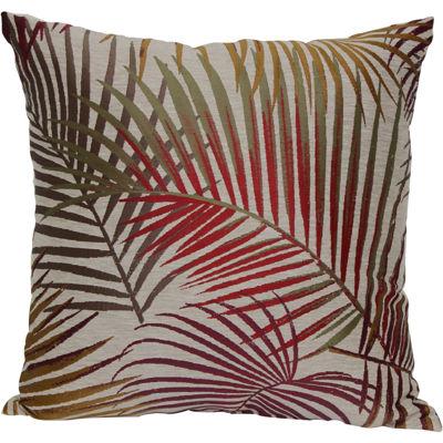 """Jacquard 18"""" Palm Leaf Decorative Pillow"""