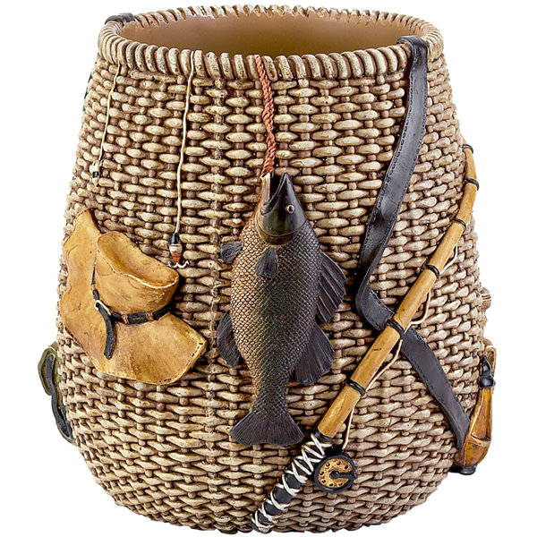 Avanti Rather Be Fishing Wastebasket
