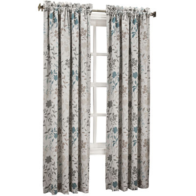 Sun Zero™ Emory Printed Floral Room-Darkening Rod-Pocket Curtain Panel