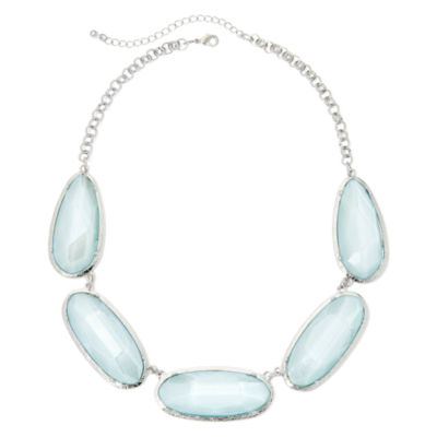 Mixit® Blue Faceted Collar Necklace
