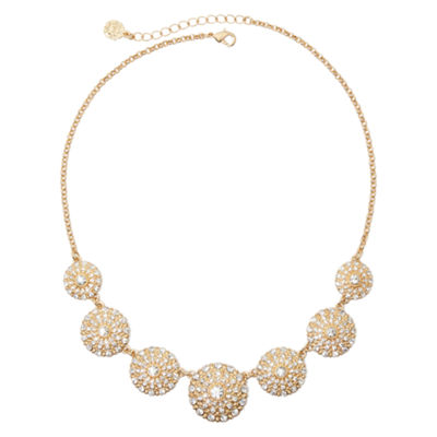 Monet® Gold-Tone Crystal Collar Necklace