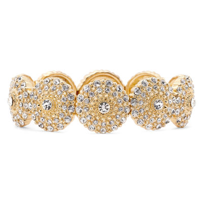 Monet® Gold-Tone Crystal Stretch Bracelet