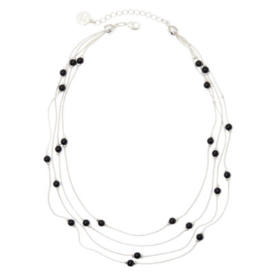 Liz Claiborne® 4-Strand Black Bead Necklace