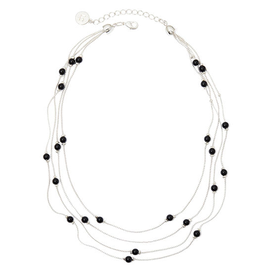 Liz Claiborne® 4-Strand Black Bead Necklace