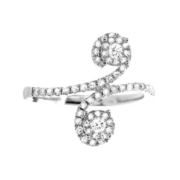 LIMITED QUANTITIES 1/2 CT. T.W. Diamond 14K White Gold Swirl Ring