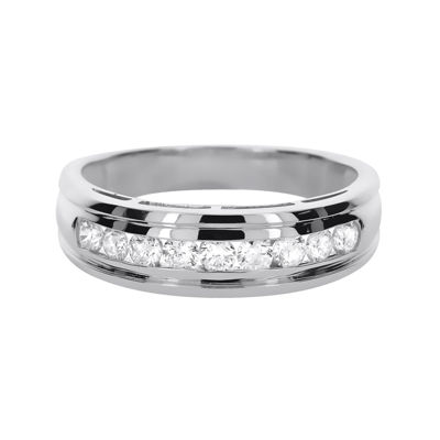 LIMITED QUANTITIES Mens 1/2 CT. T.W. Diamond 14K White Gold Band