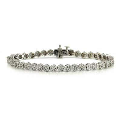 LIMITED QUANTITIES 2 CT. T.W. Diamond 14K White Gold Tennis Bracelet