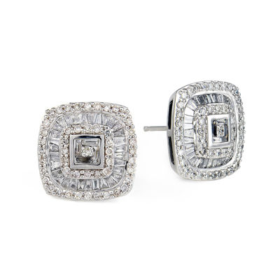 LIMITED QUANTITIES 1 CT. T.W. Diamond Square Stud Earrings