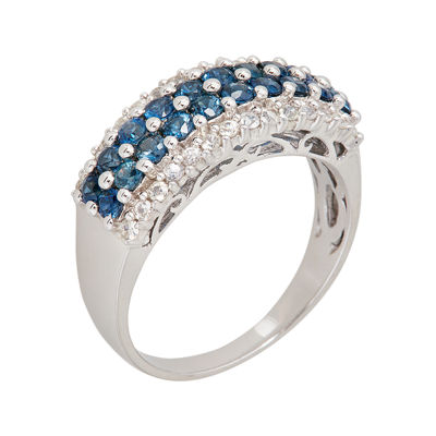 LIMITED QUANTITIES  Genuine Blue and White Sapphire Ring
