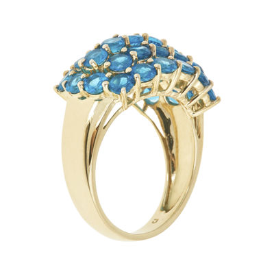 LIMITED QUANTITIES  Genuine Neon Apatite 10K Yellow Gold Ring