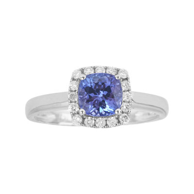 LIMITED QUANTITIES  Genuine Tanzanite and 1/8 CT. T.W. Diamond Ring