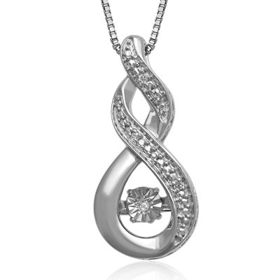 Love in Motion™ Diamond-Accent Sterling Silver Twist Pendant Necklace
