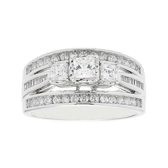 Love Lives Forever™ 1 CT. T.W. Princess-Cut Diamond 10K White Gold 3-Stone Ring