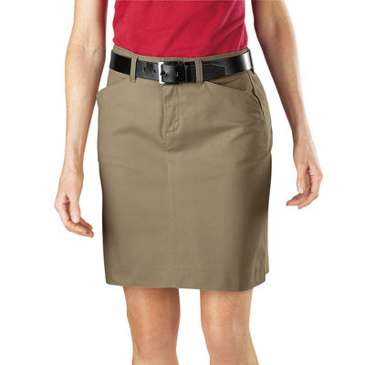 Dickies© Straight-Fit Stretch Twill Skirt