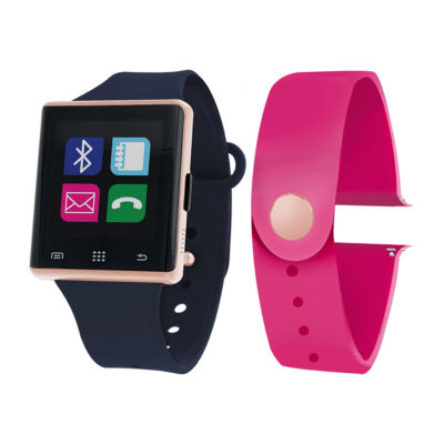 Itouch Air Interchangeable Band Set Navy Blue/Magenta Unisex Multicolor Smart Watch-Jcp2727rg724-Naf
