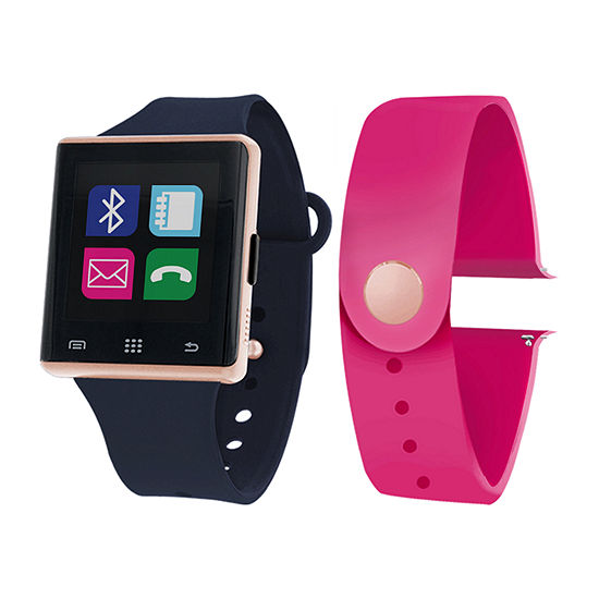 Itouch Air Interchangeable Band Set Navy Blue Magenta Unisex Multicolor Smart Watch Jcp2727rg724 Naf