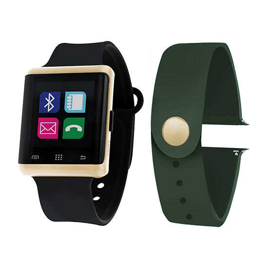 Itouch Air Interchangeable Band Set Black/Green Mens Multicolor Smart Watch-Jcp5550g724-Blo