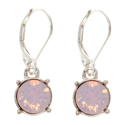 Gloria Vanderbilt Pink Circle Drop Earrings