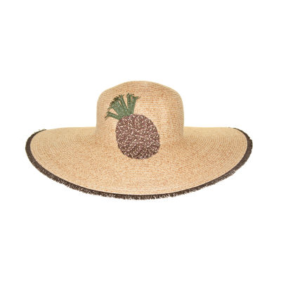 Riviera Straw Embroidered Floppy Hat