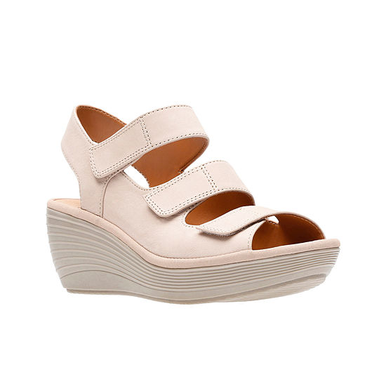 Clarks Womens Reedly Juno Wedge Sandals